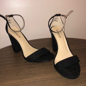 Shoes - Just fabulous black suede heels